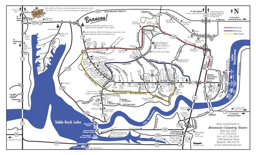 Branson Missouri Local Map - City map of branson mo